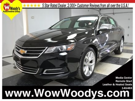 2014_Chevrolet_Impala_LTZ_FWD_2.5L_I4_Heated_Leather_Media_Center_Alloy_Wheels