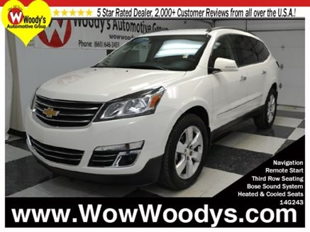 2014_Chevrolet_Traverse_LTZ_AWD_3.6L_V6_Heated_Cooled_Leather_Third_Row_CD_Stereo